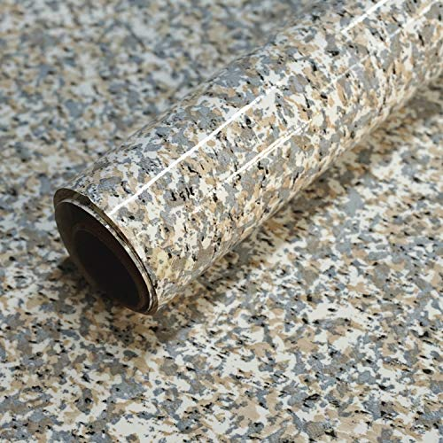 - Granite Contact Paper for Countertops Waterproof Self Adhesive Film for Kitchen Counters Bathroom Counters Removable Gray Brown Granite Peel and Stick Decorative Vinyl for Counter Tops 17.7