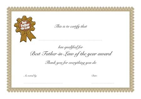 a4 homemade best certificate birthday christmas mother s day
