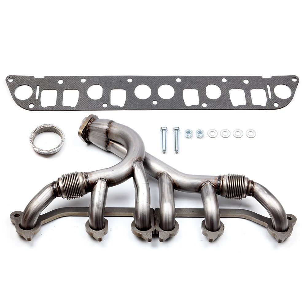 SCITOO Turbo Exhaust Manifold Kit Stainless Steel Racing Exhaust Header Manifold Set w/Gaskets fit 1993-1998 Jeep Grand Cherokee L6 4L