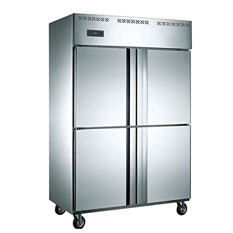 1000 Liter 4 Door Restaurant Kitchen Commercial Stainless Steel  Refrigerator Upright Freezer Fridge Reach