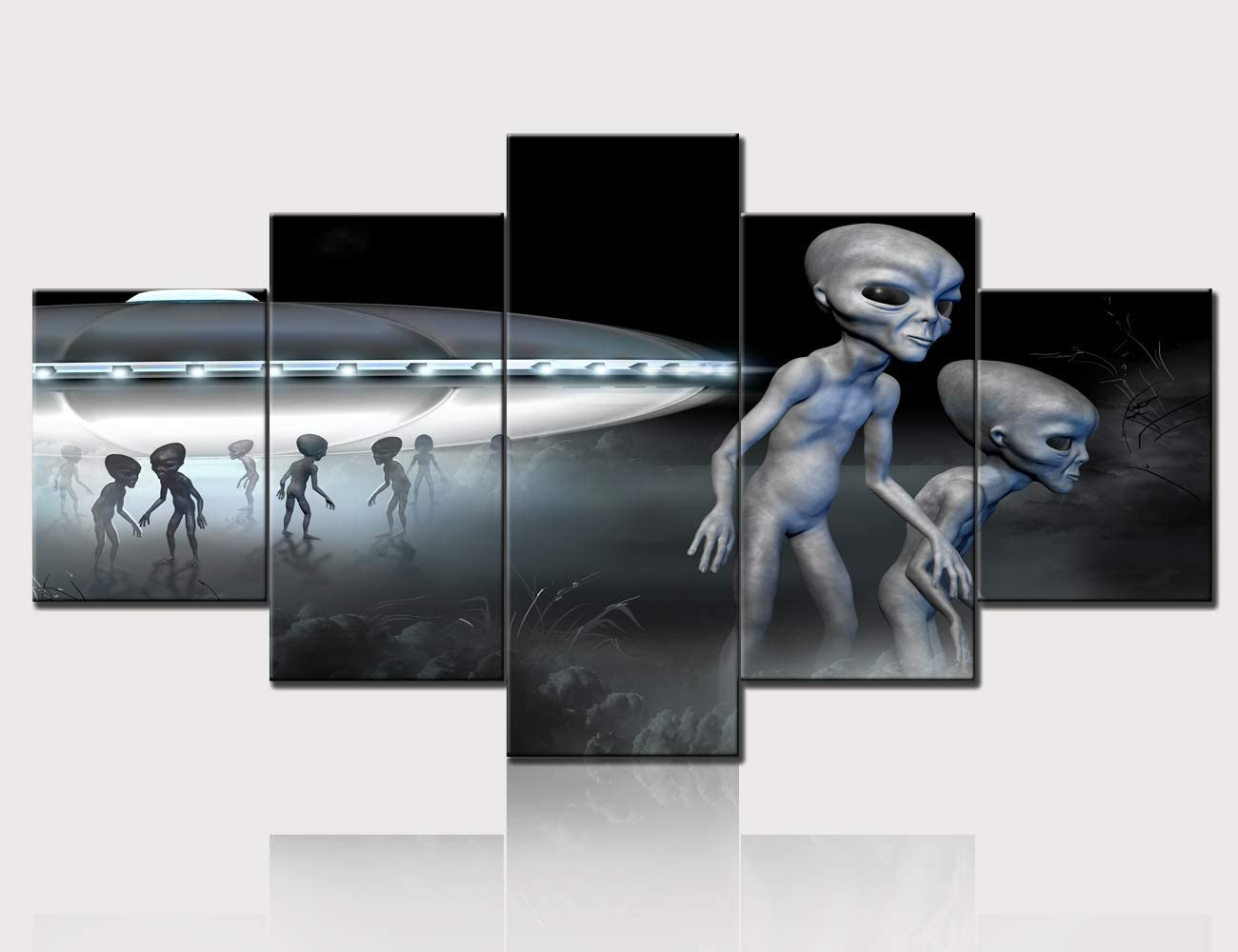 Alien at the Bar art PRINT poster gift modern folk pop art