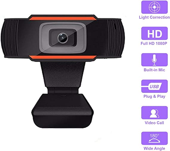HD Auto Focus Camera 5 Megapixel 1080P Video Call Available Pro Streaming Web Camera with Microphone
