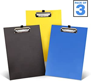Officerule Document Holder Pack of 3 Standing Clipboards - Legal and A4 Desktop Easel, Page Holder, and Paper Stand for Typing and Writing (OR200011)