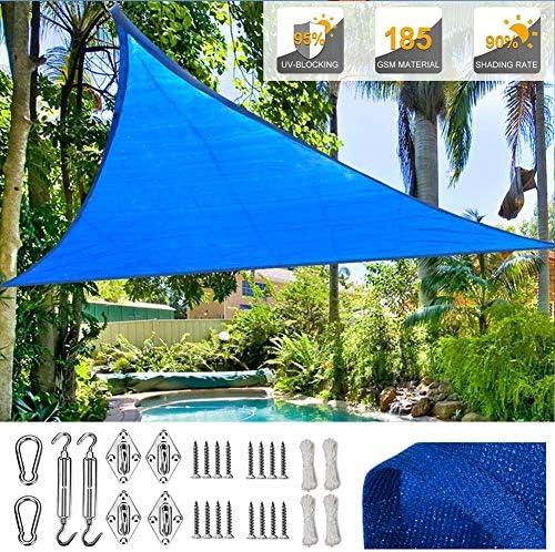 SUNDUXY Azul Toldo Vela de Sombra Triangular, 95% de protección ...
