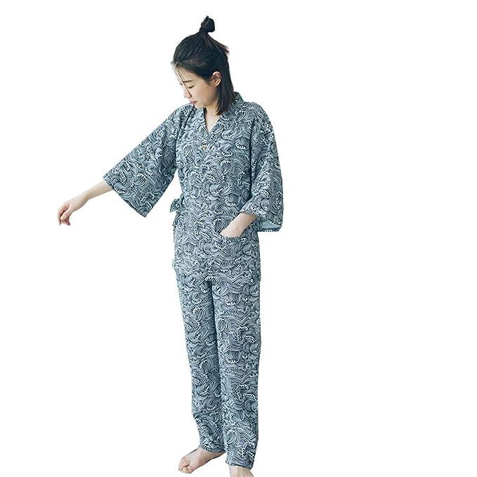 Fancy Pumpkin Vestido de algodón Estilo japonés para Mujer Kimono Pijama Traje-Gato A: Amazon.es: Ropa y accesorios