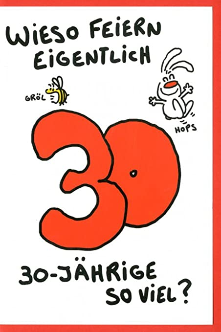 Tarjeta de felicitación Humor tarjeta de cumpleaños 30 NIC ...