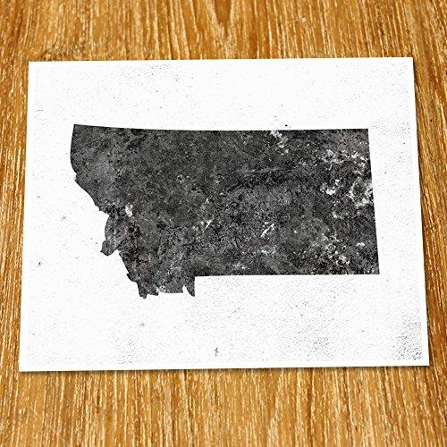 Montana Map Print (Unframed), Minimalist Map Art, Scandinavian Map Poster, Industrial, Loft, Hipster, Living Room Decor, 8x10