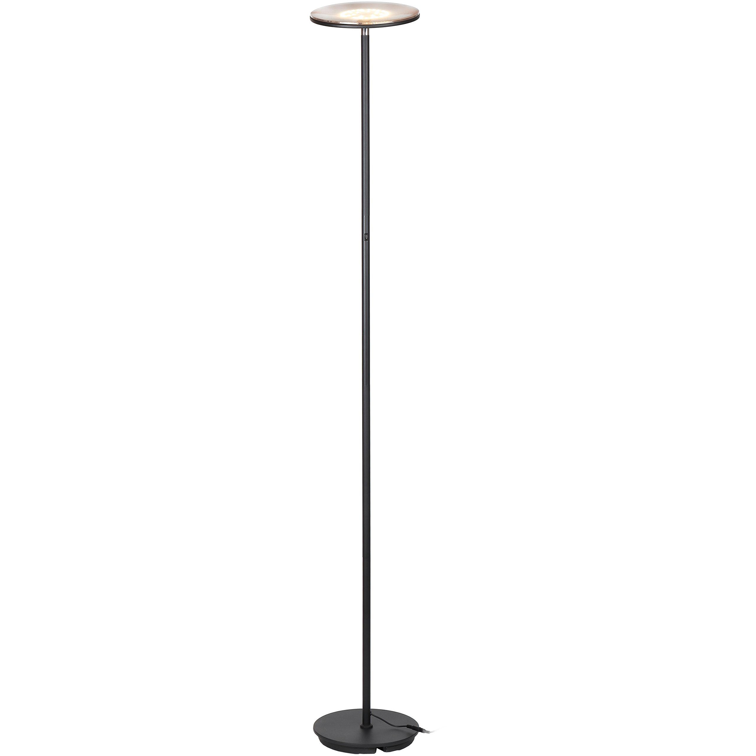 Brightech Kuler Sky Color Changing Torchiere LED Floor Lamp - Dimmable, iOs & Android App Remote Control Light - Lamp for Living Rooms, Game Rooms & Bedrooms - Adjustable Pivoting Head - Black by Brightech (Image #4)