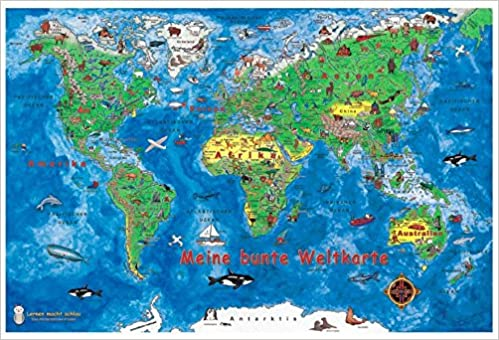 Weltkarte Postkarten 10 Postkarten Im Pack 1 Karte Gratis