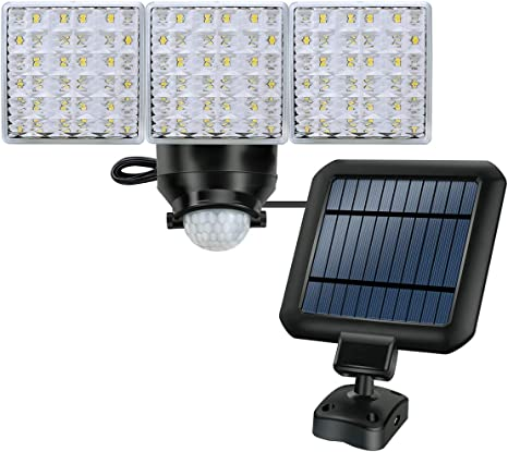 Westinghouse Solar Lights Outdoor,2000 Lumens Solar Motion Sensor Lights with 130/°Wide Angle Security Flood Light Easy-to-Install Weather Resistant LED Lighting for Front Door,Garage,Yard