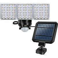 LED Solar-Powered Light, Outdoor Motion Sensor Flood Light, 1800lm, 5000K, Triple Adjustable Light Heads, Waterproof, Perfect for Front Door, Yard, Garage, Patio …