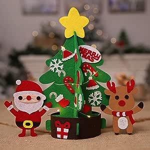 Decorações de Natal, mini árvore de Natal não tecida DIY
