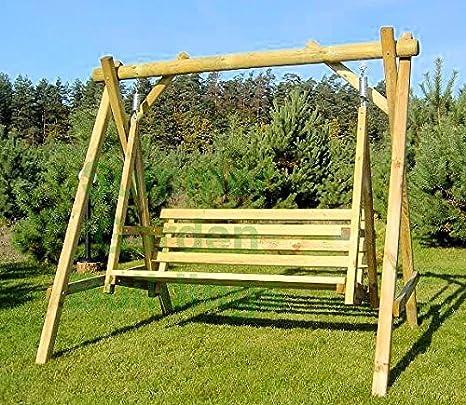 Columpio de jardín seat-pressure tratada madera Bench-3 asiento al ...