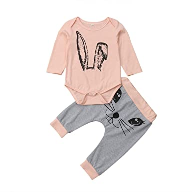 944d41547 Newborn Infant Baby Girl Outfits Cute Clothes Set Long Sleeve Romper+Pants  Leggings (3