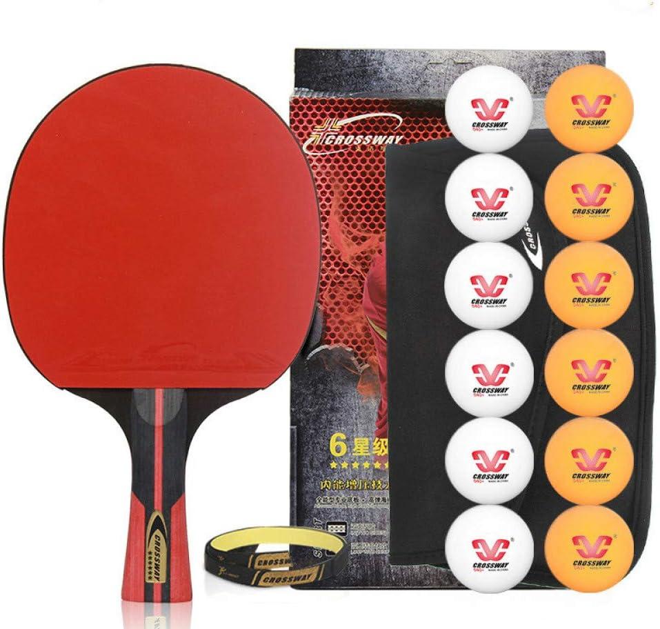 NANZHU Ping Pong Ping-Pong Mesa Pala Raqueta De Tenis De Mesa Terminado Ritmo Único Ritmo Tenis De Mesa Cross-Shoot Pegamento De Doble Cara Adecuado para Principiantes Aficionados Al Tenis De Mesa