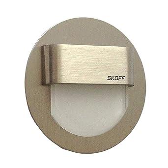 22800242 – SKOFF LED Escaleras Iluminación Juego de 2 rueda (hasta 7) Acero Inoxidable