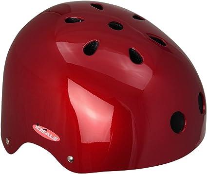 Monz IDEALE Kinder-Fahrradhelm Helm BMX und Skaterhelm matt-blau 54-56