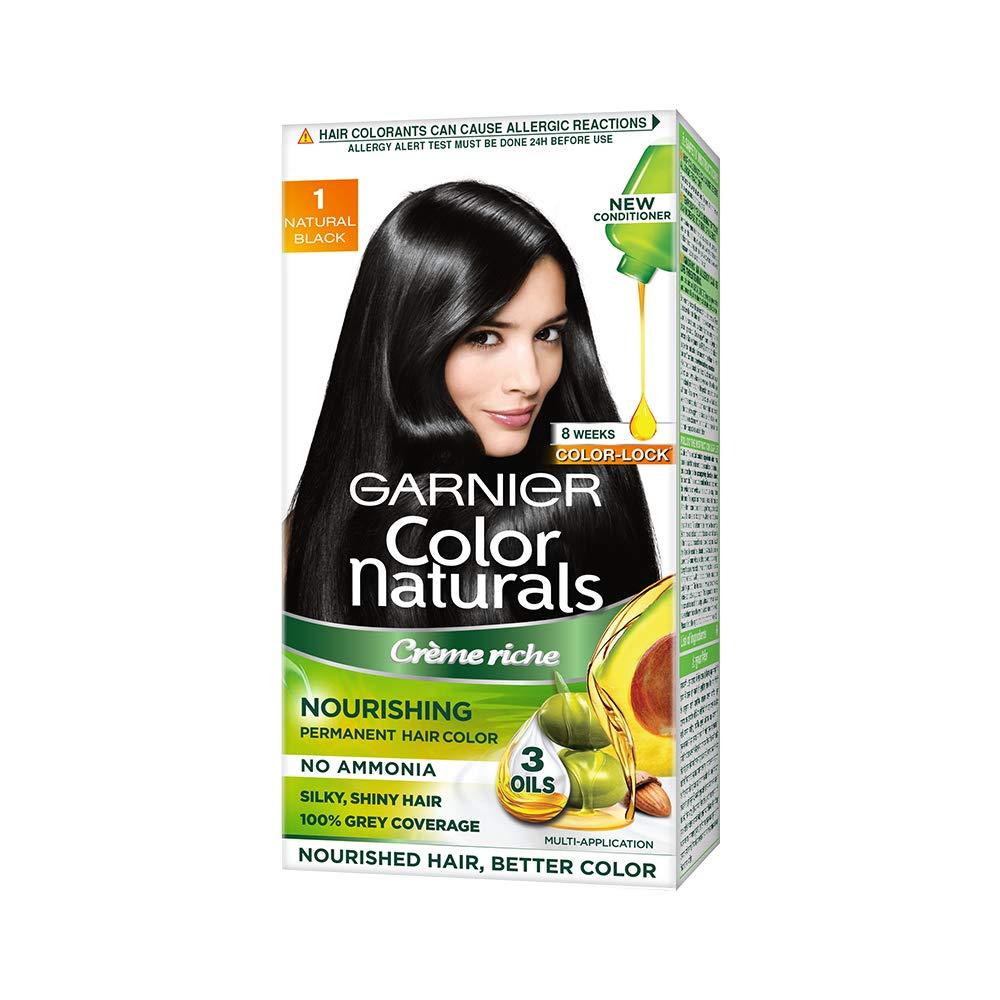 Garnier Color Naturals Nourishing Permanent Hair Color Cream - Natural Black 1 Set