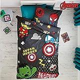 Marvel Avengers Kawaii Tokyo Single Duvet Set Quilt Cover Childrens Kids Next Bedding