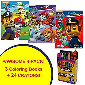 paw patrol coloring activity book set 4 pack guaranteed fun includes 3 - Paw Patrol Coloring Book