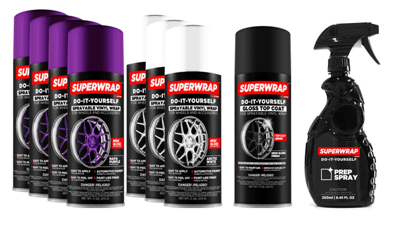 Superwrap Sprayable Vinyl Wrap - Wheels Kits 20'' to 22'' - Napa Purple