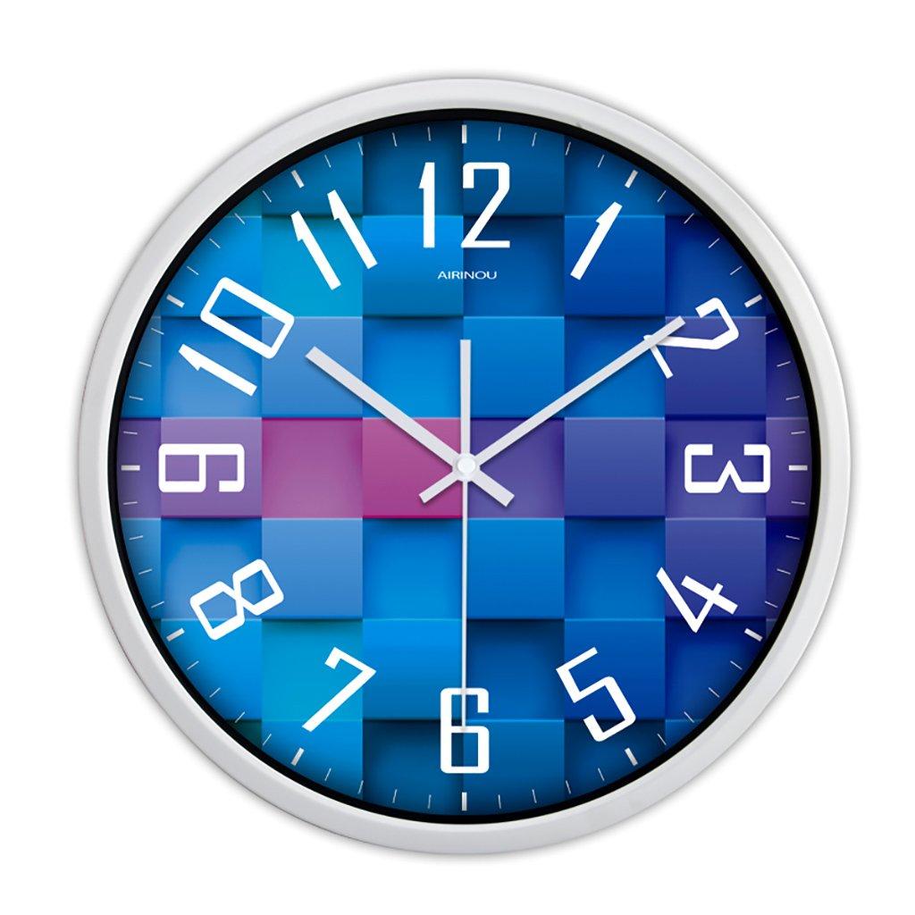 沈黙時計ウォールクロックリビングルームモダンなクリエイティブ人格ヨーロッパのクォーツ時計ハンギングベッドルームシンプルな時計 (色 : 3, サイズ さいず : 12in) B07FVL8WGM 12in|3 3 12in