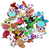 50 Pcs Mixed Wooden Animal Assorted Buttons for Sewing Scrap-Booking DIY Sewing Craft Buttons Decoration Clothing Accessories