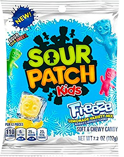 NEW Sour Patch Kids Freeze Soft & Chewy Candy Lemonade Variety Mix Net Wt 7.2 Oz (1)