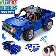 VERTOY Remote Control Building Kits, STEM Toys for Boys 6-12 Year Old, Educational Construction Set for Pickup