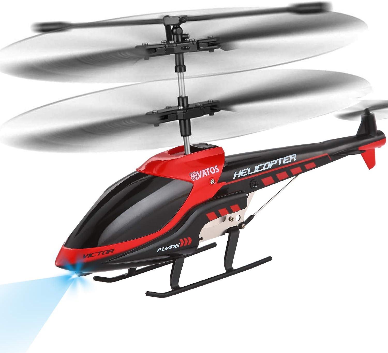 VATOS Helicóptero RC Helicóptero de Control Remoto Interior 3.5 Canales Hobby Mini RC Helicóptero Volador Avión RC Juguete de Regalo para niños Resistencia a choques Consistente