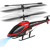 VATOS RC Helicopter, Remote Control Helicopter with Gyro and LED Light 3.5 Channel Alloy Mini Military Series Helicopter for Kids & Adult Indoor Micro RC Helicopter Toy Gift for Boys Girls