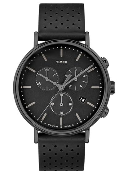 d65e1d537f8e Timex Fairfield Chronograph Black Dial Watch TW2R26800  Amazon.com ...