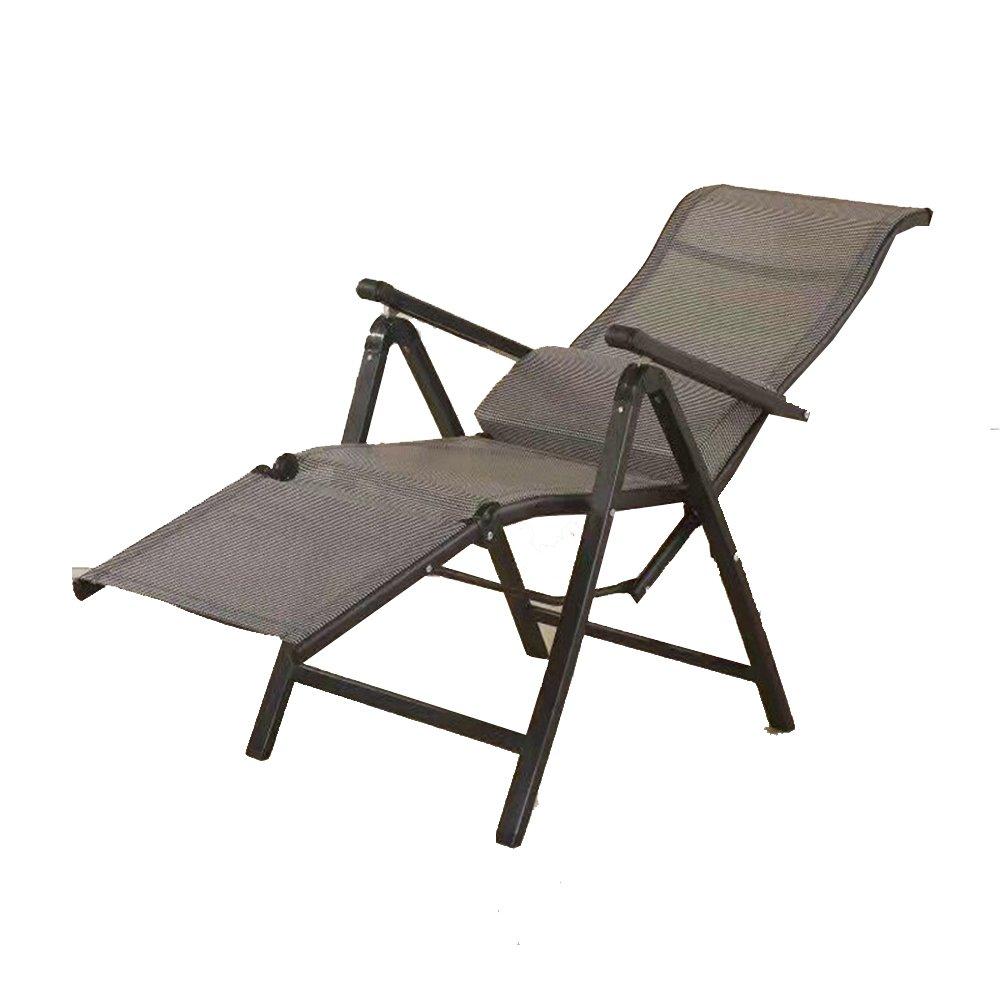 XXHDYR Bürostuhl Computer Stuhl Konferenzstuhl Hause Ergonomischer Stuhl Mittagspause Siesta Klappstuhl Verstellbar Klappstuhl (Farbe : Dark Grau)