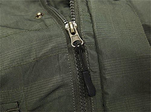 WS668 Herren Abnehmbare Mit Kapuze Outdoor Casual Atmungsaktives Mesh  Jacken Leichte Wasserdichte Mäntel Mens Coats (EU/ED XX-Large, Khaki):  Amazon.de: ...