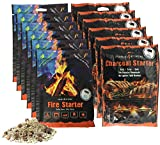 Instafire Granulated Emergency FireStarter Combo Kit, 12 pack: 6 packs Charcoal Starter, 6 packs Fire Starter For Sale