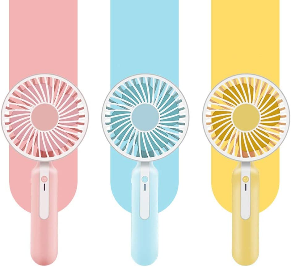USB Small Fan Personal Quiet USB Electric Personal Mini Portable Handheld Fan for Office Outdoor Convenient Mini Color : Blue, Size : One Size Traveling Home