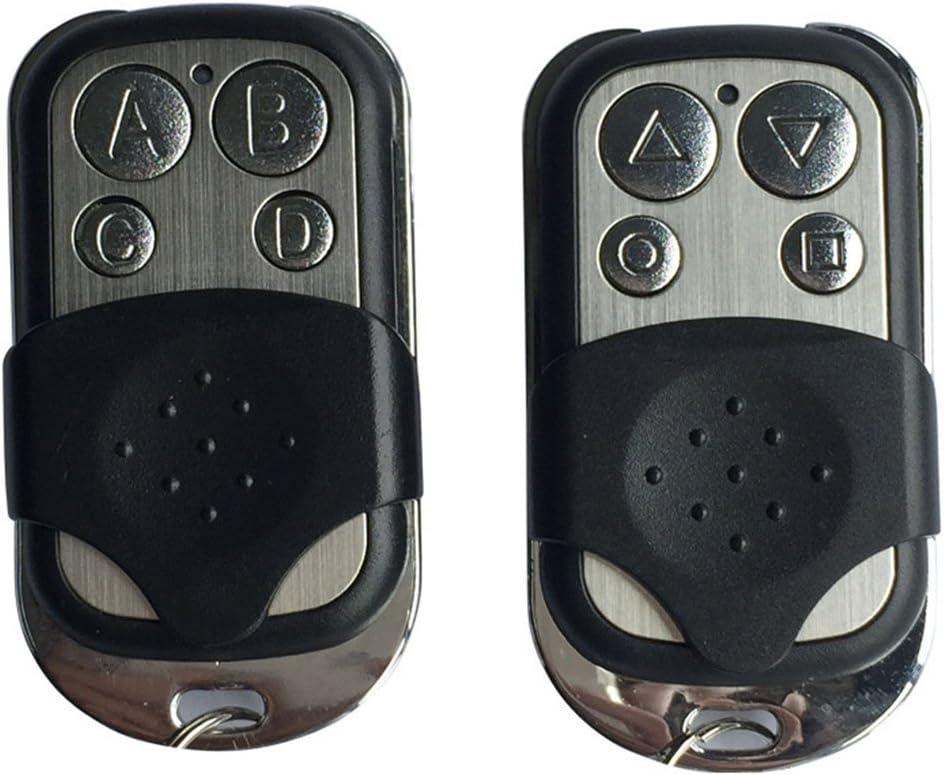 Xrlwood Clave de Control Remoto ABCD 433MHZ clonaci/ón Auto de la Puerta del Garage del c/ódigo Variable de la duplicadora