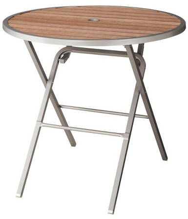 Threshold™ Bryant Faux Wood Folding Round Patio Dining Table : Target