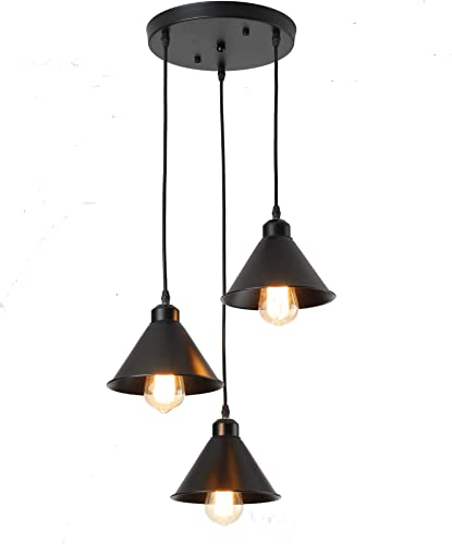 Industrial Ceiling Pendant Lights Fitting Chandelier Lampshade for Home Office Bedroom Living Room Dining Room Coffee Shop