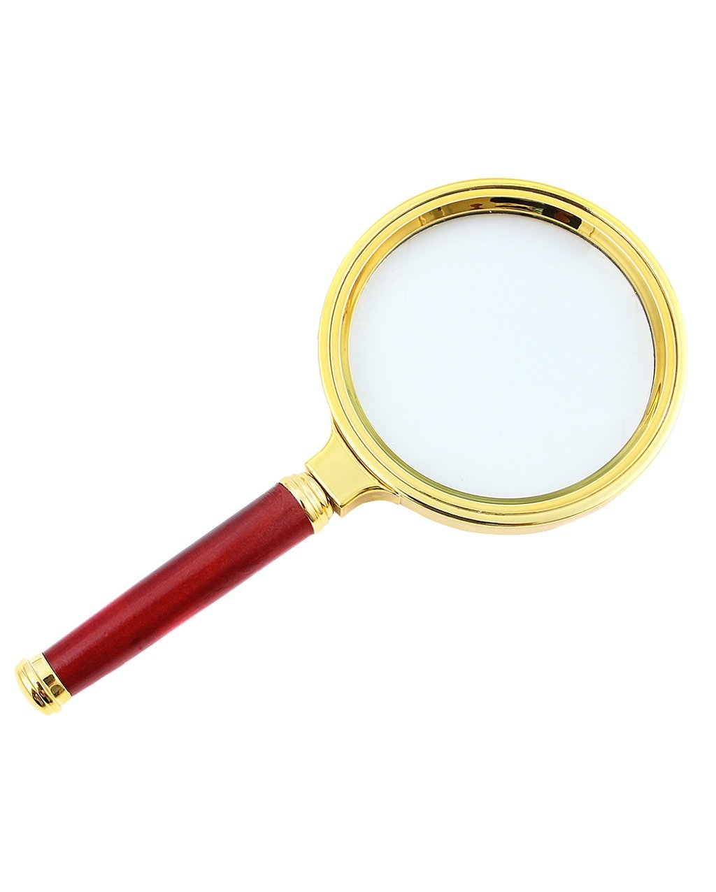 ZENGAI Magnifiers Optical Magnifying Glass 10 Times Ultra-clear Mahogany Hand-held Reading Magnifying Glass 80MM Cloth Bag Lens