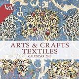 V&A - Arts & Crafts Textiles Wall Calendar 2019 (Art Calendar)
