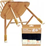 Cat Paw Chair Socks- Reliable Furniture Socks - Floor Protector- Reduce Noise - 8 Socks per Package, Good for 2 Chairs (Black Cat)