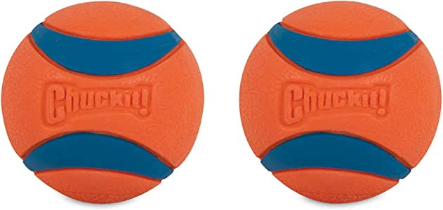 Chuckit! 2.5-Inch Ultra Ball 2 Pack, Medium, Orange/Blue