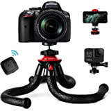 Tripod for iPhone, Fotopro Flexible Camera Tripod with Remote for iPhone 12 XS,Samsung, Waterproof and Anti-Crack Phone Tripo
