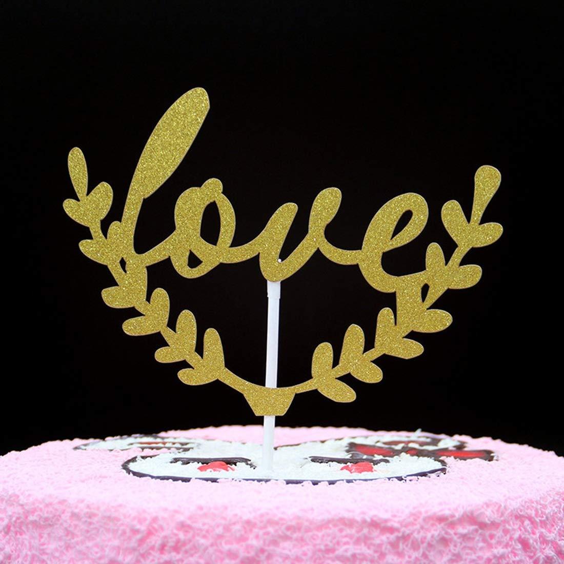 FELICIGG 50 Paquetes Happy Birthday Cake Topper Primer ...