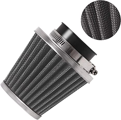 Evermotor Universal Doppelschicht Stahl Filter Luftfilter 42mm 43mm 44mm Für Motorrad Scooter Atv Moped Auto