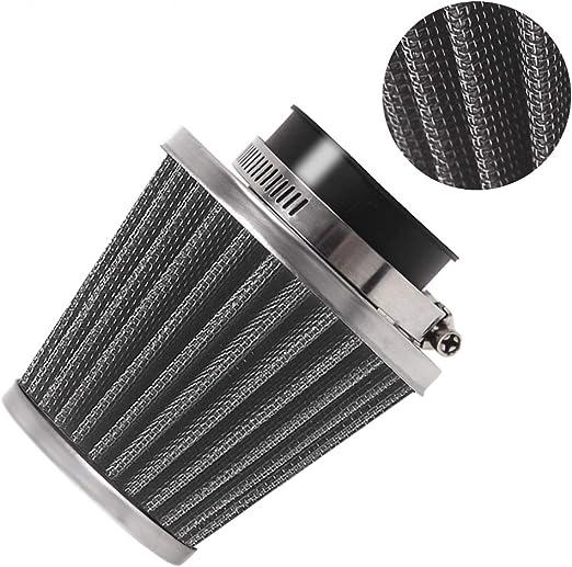 Evermotor Universal Doppelschicht Stahl Filter Luftfilter 52mm 53mm 54mm Für Motorrad Scooter Atv Moped Auto