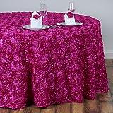 Efavormart Rosette/ Rose Pattern Round Tablecloths 132