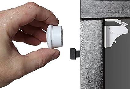 Un conjunto de cerradura invisible magnética para la seguridad del bebé de Invivo, sin la