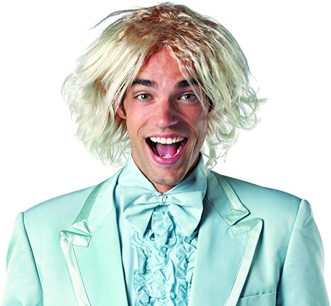 Mens Blonde Curly Wig Cosplay Dumb And Dumber Deluxe Harry Dunne Costume HM-218